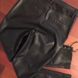 BLANK NYC SZ29 black vegan lace up leather pants